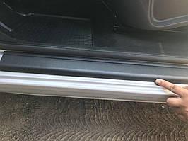 Накладки на пороги DDU (2 шт., пласт) Mercedes Citan 2013↗ рр.