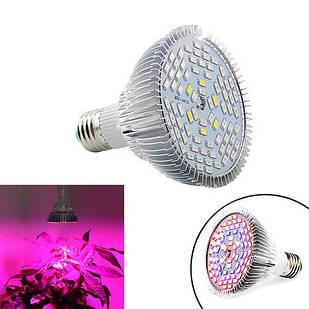 Фитолампа фито лампа для растений, полный спектр E27, 78LED 24Вт