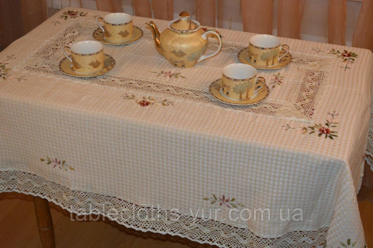 Скатерть лен 150 -220 вафелька
