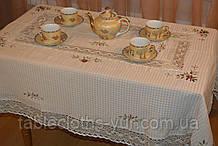 Скатертина льон 150 -220 вафелька