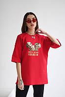 Жіноча стильна футболка з малюнком, фото 1