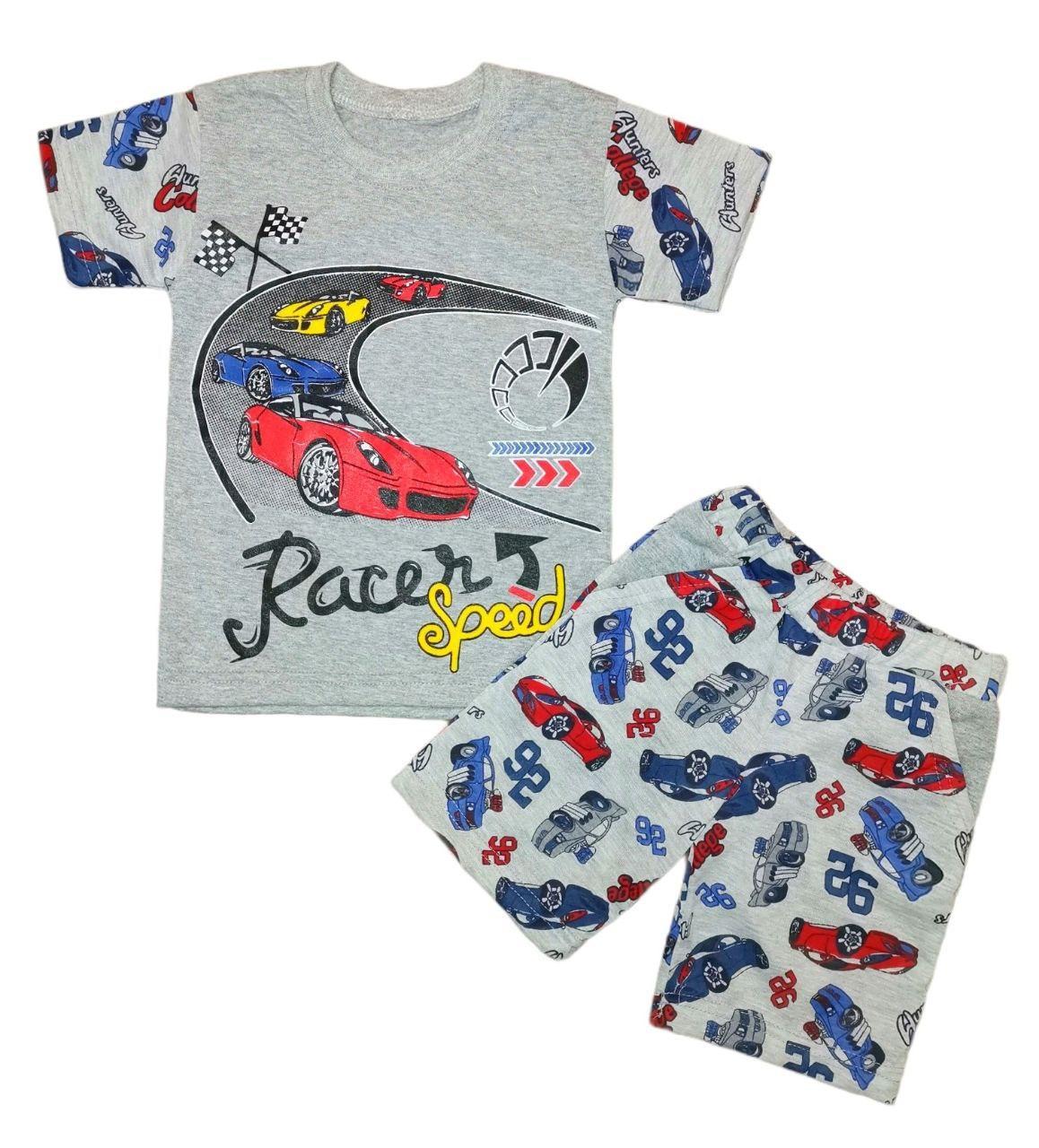 Летний комплект для мальчика футболка+шорты Racer Speed кулир