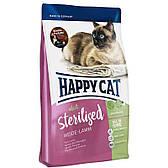 Корм для стерилизованных кошек Sterilised Weide and Lamm 10 кг с ягненком (70347 Happy Cat)