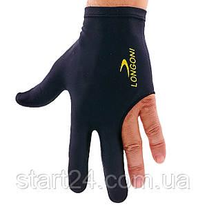 Перчатка бильярдная (1шт) KS-2090 (нейлон, эластан, черный, в уп.-2шт, цена за 1шт)