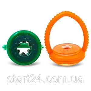 Подвес для кия KS-3240 (пластик, резина, d-3,5cм, зеленый, оранжевый)