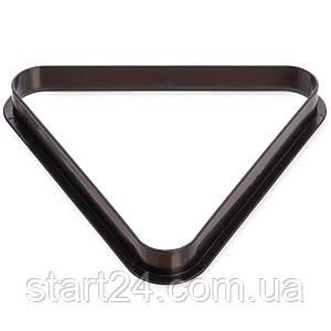 Треугольник для пула KS-3939-57 (пластик, диаметр шаров 57мм, черный)