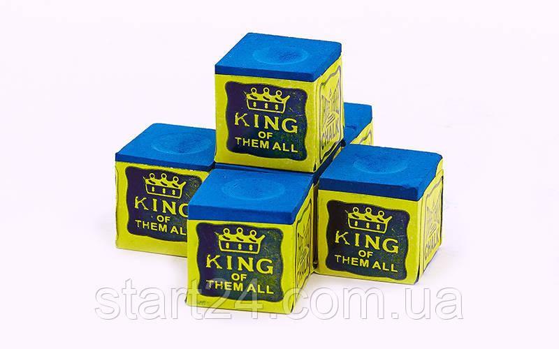 Мел для бильярда (уп. 12шт) TRIANGEL KS-1930 (синий, цена за 12шт)