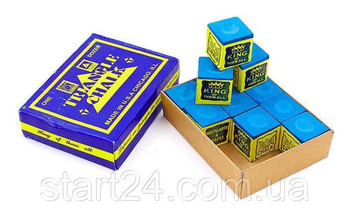 Мел для бильярда (уп. 12шт) TRIANGEL KS-1930 (синий, цена за 12шт), фото 2
