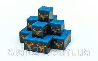Мел для бильярда (уп. 144шт) OX HEAD KS-OH144 (синий, цена за 1шт)