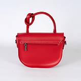Червона жіноча маленька сумка 15-21/1  з однією ручкою і довгим ремінцем на плече, фото 2