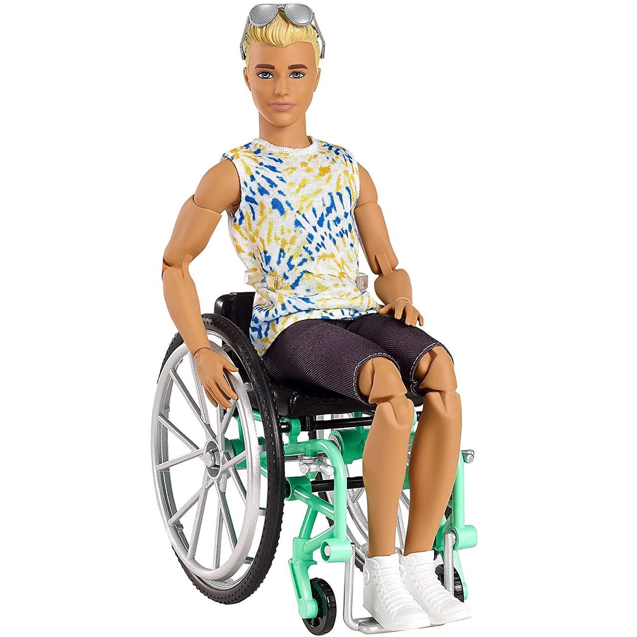 Кукла Барби Кен шарнирный в кресле коляске Barbie GWX93