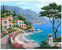 Алмазная картина мозаика-раскраска Brushme 40*50 Летняя идиллия