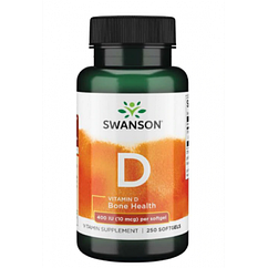 Vitamin D 400 IU (10 mcg) - 250 Sgels (До 08.21)