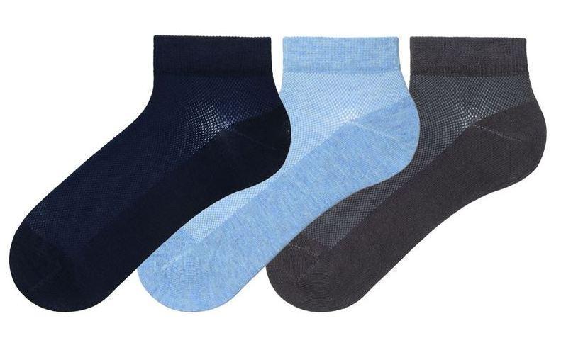 Набор 3 шт. Носки женские укороченные сетка Bross