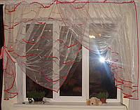 Тюль на кухню Эдельвейс алая, фото 1