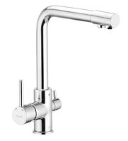 Высокий смеситель для кухни с выходом для питьевой воды IBERGRIF M22109 латунный литой кухонный кран на мойку