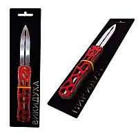 """Дерев'яна іграшка ніж """"Викидуха"""" Скелетон, Red"""