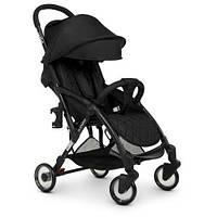 Прогулочная коляска детская с регулировкой спинки и чехлом для ножек Прогулочная коляска-книжка черная