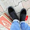 Vans Old Skool black кеды низкие мужские полностью черные ванс вэнс летние кеды  не оригинал  деми демисезон, фото 2