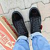Vans Old Skool black кеды низкие мужские полностью черные ванс вэнс летние кеды  не оригинал  деми демисезон, фото 4