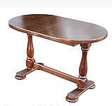 Дерев'яний стіл кухонний овальний обідній розсувний, фото 2
