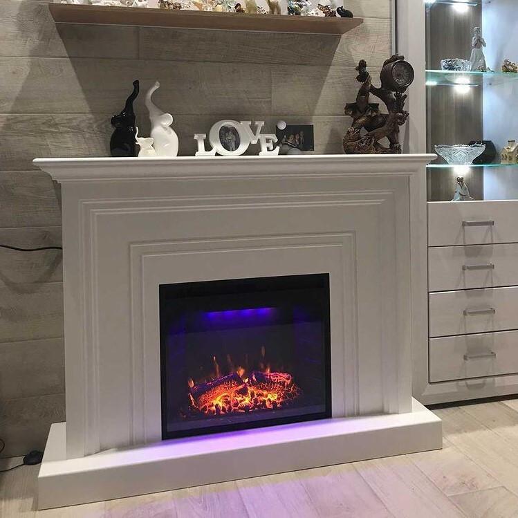 Декоративный портал камин из МДФ Beautiful FN 0723 Royal Goodfire 23 LED белый
