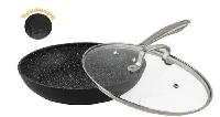 Сковорода антипригарная 28 см Edenberg с мраморным покрытием литая с крышкой EB-3350