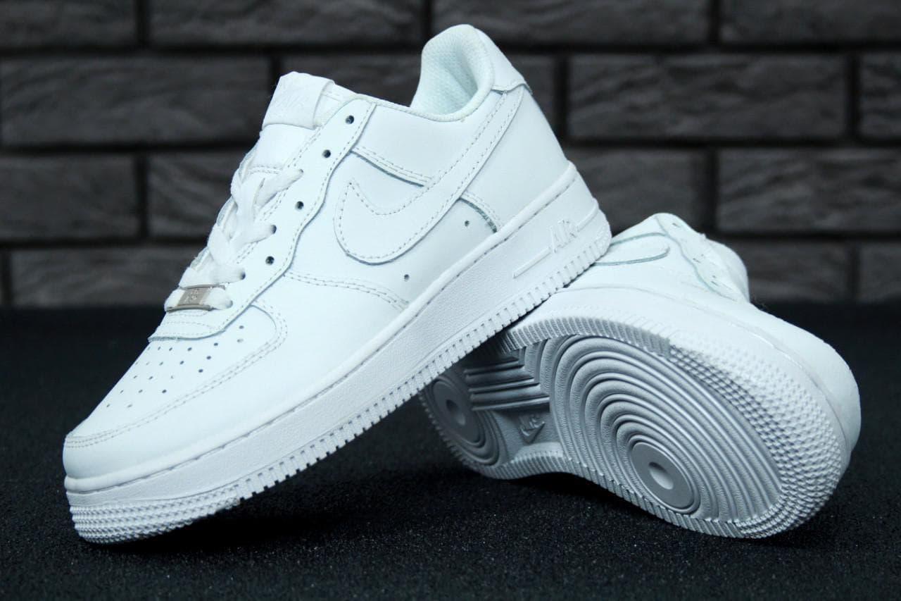 Жіночі кросівки Nike Air Force (білі) К10643 спортивна крута взуття