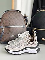 Круті жіночі кросівки Шанель сітка (репліка), фото 1