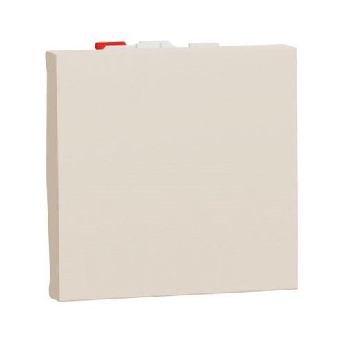 Выключатель проходной 1-кл. 2 мод, Unica New бежевый