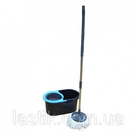 Набір для прибирання Zambak Plastik Lodos телескоп блакитний 13 л, фото 2