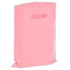 Пакет полиэтиленовый розовый 20х30 см