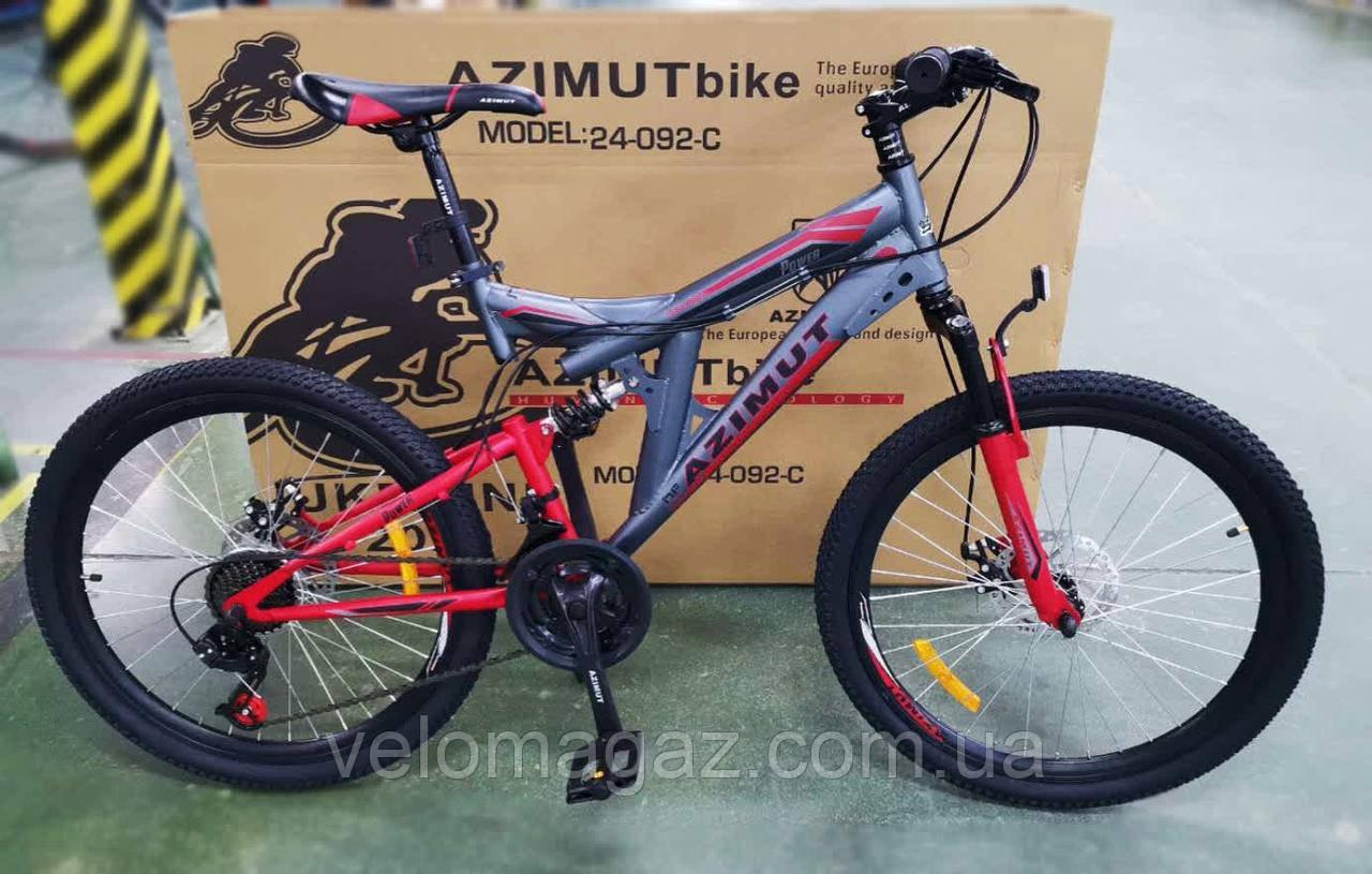 """Велосипед гірський двухподвесной POWER 26"""" FRD, рама 19,5"""", сіро-червоний"""