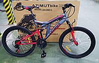 """Велосипед гірський двухподвесной POWER 26"""" FRD, рама 19,5"""", сіро-червоний, фото 1"""