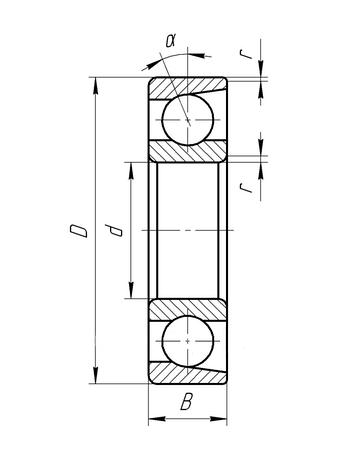Підшипник 6-46210 (7210ACJ/P6)  ГПЗ-34, розміри:50*90*20, фото 2