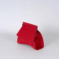 Червона жіноча сумочка крос-боді 14-21/4 через плече клатч з довгою ручкою, фото 1