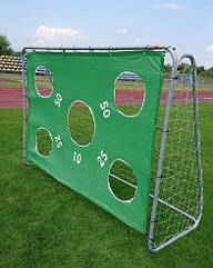 Ворота футбольные с матом 240 х 170 х 85 смс сеткой