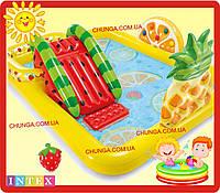 Дитячий надувний ігровий центр Веселий фрукт Intex 57158 NP, фото 1
