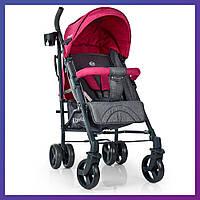 Детская прогулочная коляска-трость с регулируемой спинкой El Camino ME 1029 Breeze Pink розовая
