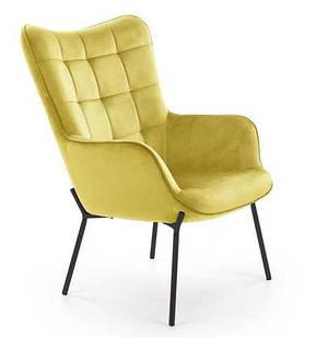 Кресло CASTEL желтый / черный