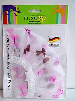 Шапочка для душа Beauty LUXURY полиэтиленовая цветная CS-05 Бантики