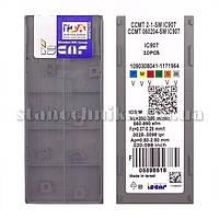 Пластина сменная т/с CCMT 060204-SM IC907 ISCAR (10 шт)