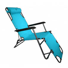 Шезлонг лежак Bonro 178 см блакитний