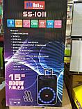 Колонка акумуляторна з двома мікрофонами ZPX ZX-7766 200W (Bluetooth/USB/FM/TWS), фото 5