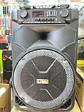 Колонка акумуляторна з двома мікрофонами ZPX ZX-7766 200W (Bluetooth/USB/FM/TWS), фото 10