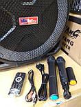 Колонка акумуляторна з двома мікрофонами ZPX ZX-7766 200W (Bluetooth/USB/FM/TWS), фото 7