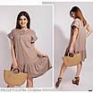 Плаття літнє короткий вільного фасону льон 42-46,48-52,54-58, фото 3