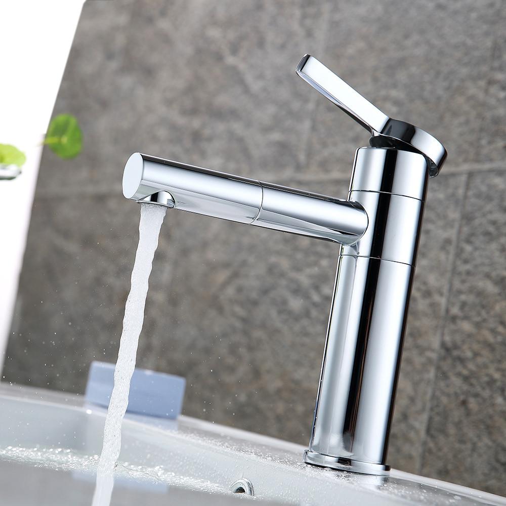 Смеситель для умывальника однорычажный кран горизонтальный монтаж WanFan для ванны Хром