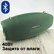 Портативная bluetooth колонка Hopestar X портативная акустика блютуз колонка мощная 40 Вт с микрофоном караоке