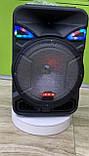 Колонка акумуляторна з радіомікрофоном ZXX-8886 / 150W (USB/FM/Bluetooth), фото 4